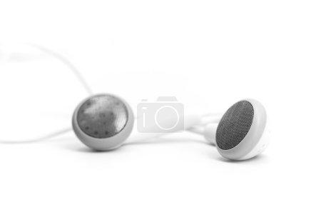 Concept of digital music white Headphones