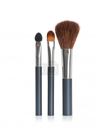 Professional makeup brush isolated on a white background