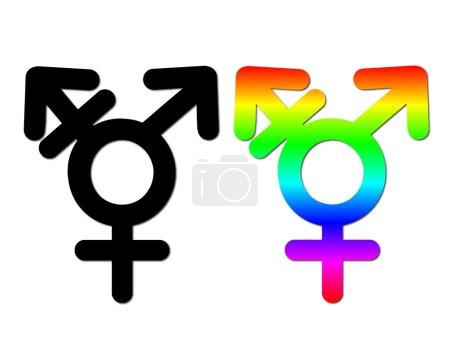 Photo pour Symboles de l'union sexuelle, isolé sur fond blanc - image libre de droit