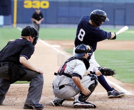 Photo pour Frappeur droitier de baseball, close-up, main droite - image libre de droit