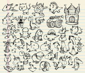 Sketch Doodle Vector Illustration Set