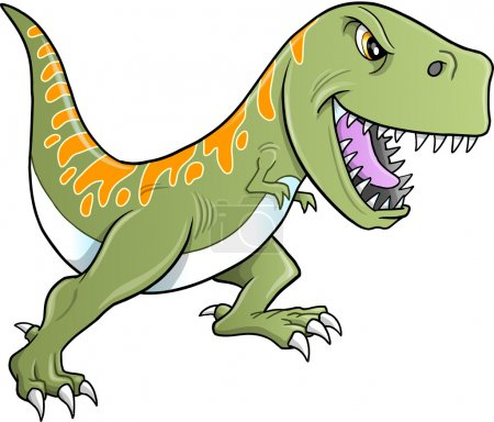 Tough Tyrannosaurus Dinosaur Vector Illustration