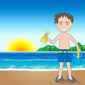 Beach Sand Boy Background