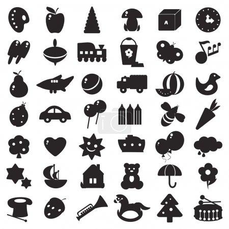 Black silhouettes toys