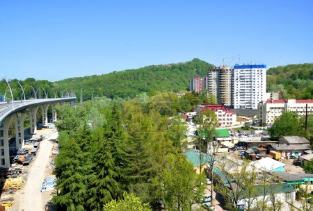 Construction of the road-doubler Kurortny prospectus in Sochi
