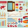 Colorful set of vector info graphics...