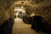 Historical section of champagne winery, Epernay, Champagne Region, France