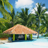 "Постер, картина, фотообои ""Отель бассейн, Варадеро, Куба"""