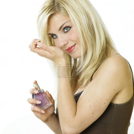Woman's portrait with perfume