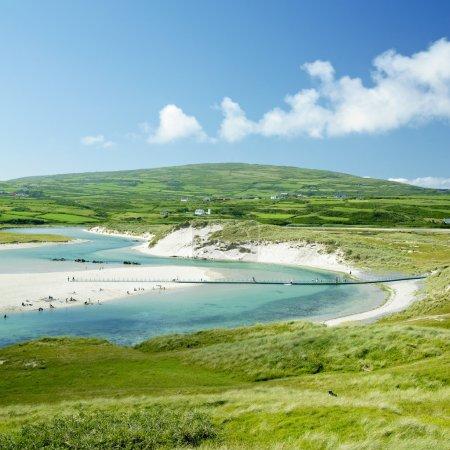 Beach with foot bridge, Barleycove, County Cork, Ireland