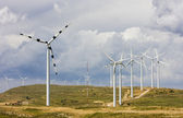 Wind turbines, Aragon, Spain