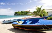 "Постер, картина, фотообои ""Рыбалка, лодки, Сотёр Бэй, Гренада"""