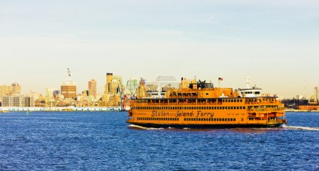 Ferry for Staten Island, New York, USA