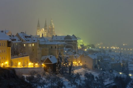 Hradcany in winter, Prague, Czech Republic