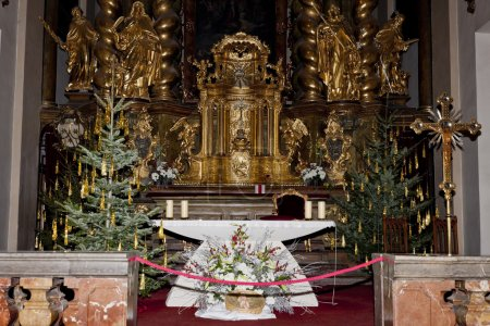 Interior of church of Saint Mary with Infant Jesus Of Prague, Th