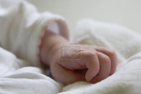 Photo pour Main de bébé - image libre de droit