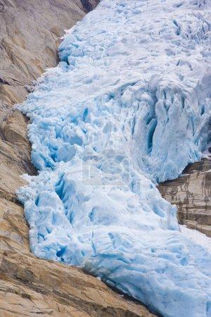 Photo pour Melkevollbreen glacier, parc national de jostedalsbreen, près de brigsdal, Norvège - image libre de droit