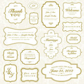 Vector Vintage Gold Frame Set