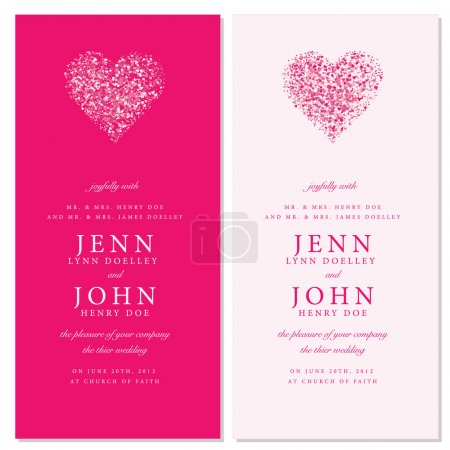 Vector Heart Invitation Frames