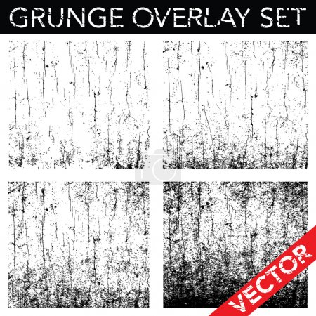 Vector Distressed and Cracked Background Set.