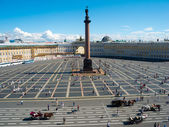 Alexander Column on Palace Square in St. Petersburg