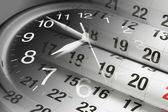 Stránky kalendáře a hodiny