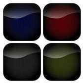 A set of blank rounded square icons with stripey backgrounds in muted hues of grey green red and blue