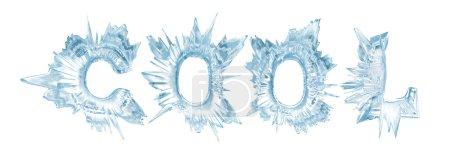 Photo pour Lettres de cristaux de glace. Le mot - Cool - image libre de droit