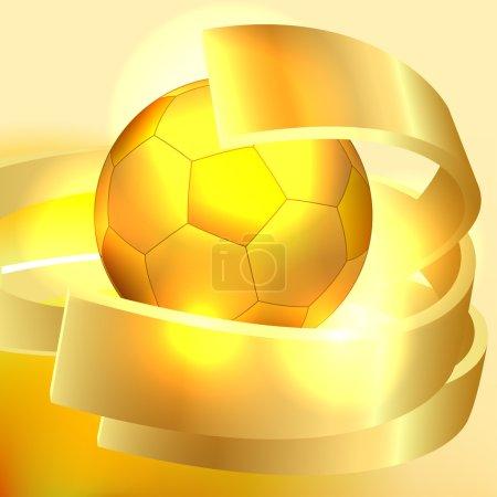 Gold soccer ball background