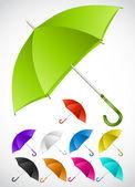 Colorful umbrellas set Vector