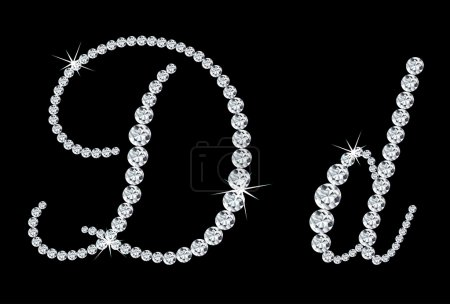 Photo for Diamond alphabetic uppercase and lowercase letters. Vector illustration - Royalty Free Image