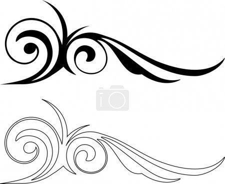 Illustration for Two of Elegance Elements design, vector illustration. - Royalty Free Image