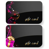 Black Gift Card Set Isolated On White Background Vector Illustration