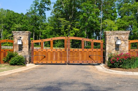 Photo for Stately Entrance to New Gated Community - Royalty Free Image
