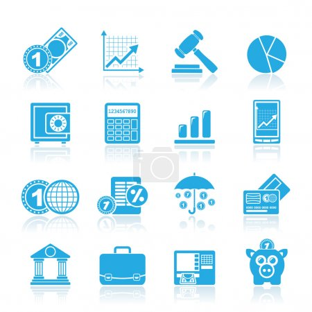Photo pour Icônes d'affaires et de finance - jeu d'icônes vectorielles - image libre de droit
