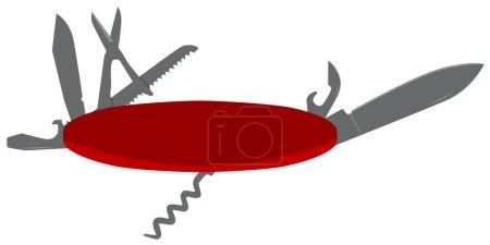 Illustration for Vector detailed illustration of a pocket knife - Royalty Free Image
