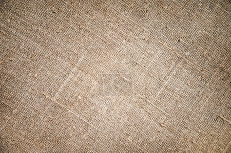 Photo for Texture of an old dirty potato sack as background - Royalty Free Image