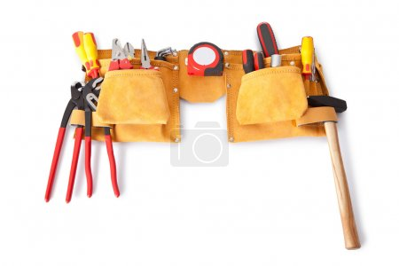 Toolbelt with various tools