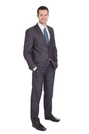 Foto de Retrato de hombre de negocios exitoso. aislado en blanco - Imagen libre de derechos