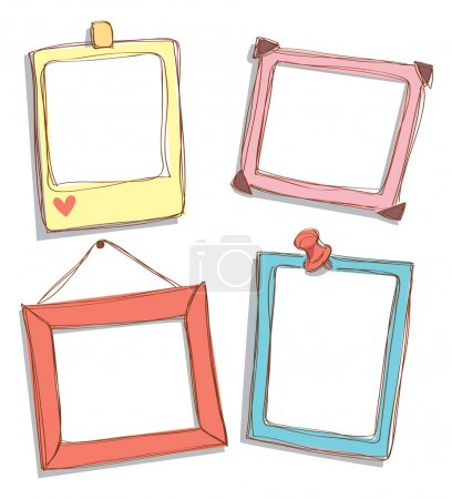 Illustration for Cute frame doodle - Royalty Free Image