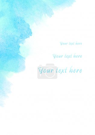 Photo for Abstract watercolor background, for your text here - Royalty Free Image