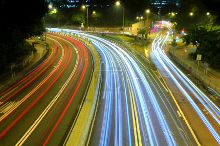 Photo for Urban city with car light - Royalty Free Image