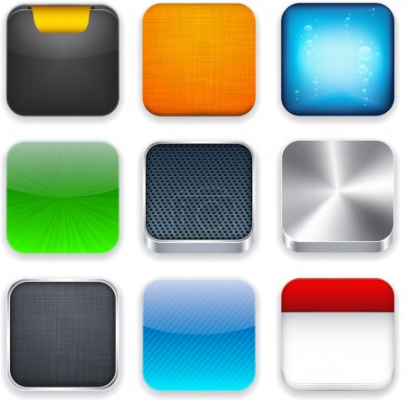Illustration for Vector illustration of high-detailed apps icon set. - Royalty Free Image