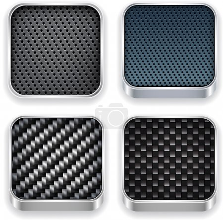 Illustration for Vector illustration of high-detailed textured apps icon set. - Royalty Free Image