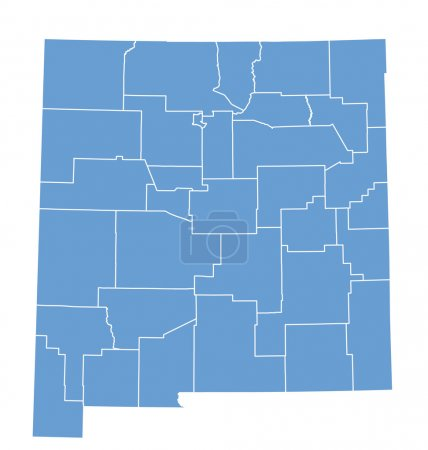 State map of New Mexico by counties