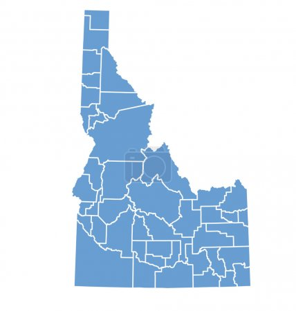State Map Of Idaho