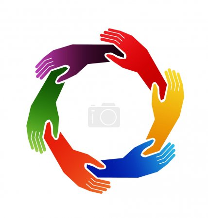 Hands in circle holding one each other...