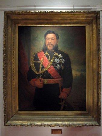 Painting of King David Kalakaua