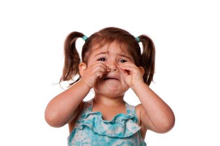 Sad crying Little toddler girl