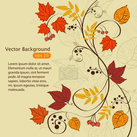 Illustration for Vector autumn background design - Royalty Free Image